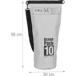 Waterdicht Drogzaak 10 liter Grijs