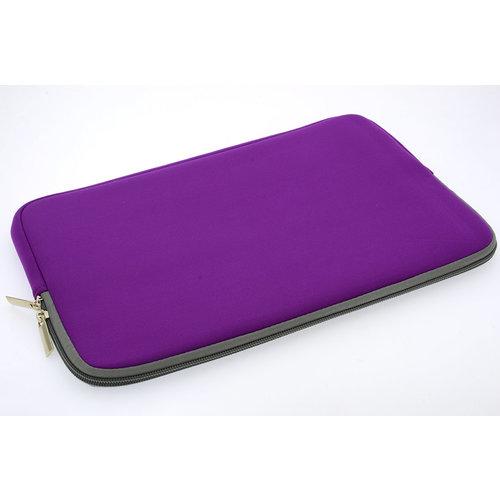 Andere merken Universeel 13 inch Paars Insteek hoesje Soft - Slim - Polyester