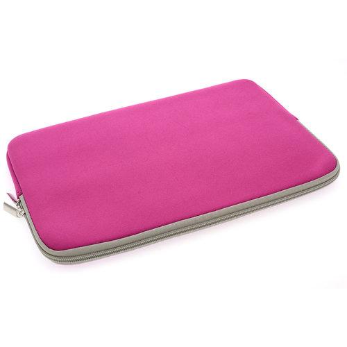 Andere merken Universeel 15 inch Roze Insteek hoesje Soft - Slim - Polyester