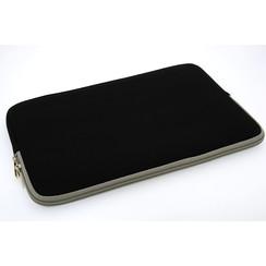 Universeel 15 inch Zwart Insteek hoesje Soft - Slim - Polyester