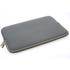 Universeel 15 inch Grijs Insteek hoesje soft - Slim - Polyester