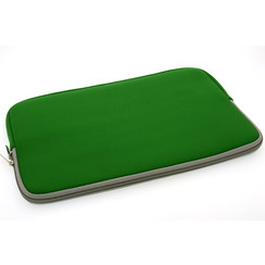 Universeel 15 inch Groen Insteek hoesje Soft - Slim - Polyester