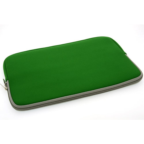 Andere merken Universeel 15 inch Groen Insteek hoesje Soft - Slim - Polyester