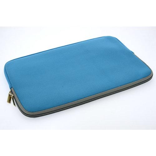 Andere merken Universeel 15 inch Blauw Insteek hoesje Soft - Slim - Polyester