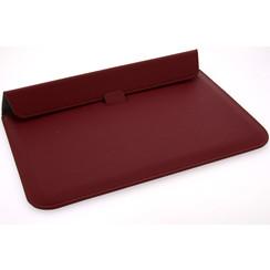 Universeel 13.3 inch Rood Insteek hoesje Hard - Slim - Kunstleer