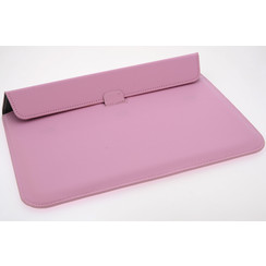 Universeel 13.3 inch Roze Insteek hoesje Hard - Slim - Kunstleer