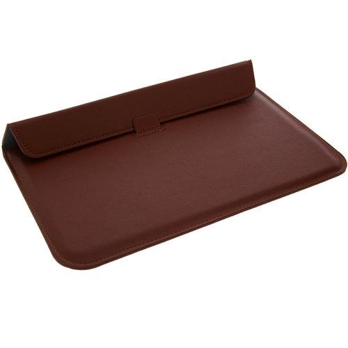Andere merken Universeel 11.6 inch Bruin Insteek hoesje Hard - Slim - Kunstleer