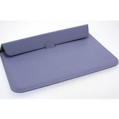 Universeel 15.4 inch Paars Insteek hoesje Hard - Slim - Kunstleer