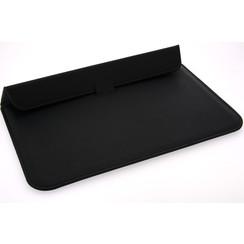 Universeel 15.4 inch Zwart Insteek hoesje Hard - Slim - Kunstleer