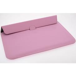 Universeel 15.4 inch Roze Insteek hoesje Hard - slim - Kunstleer