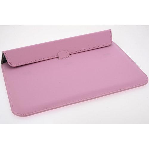 Andere merken Universeel 15.4 inch Roze Insteek hoesje Hard - slim - Kunstleer