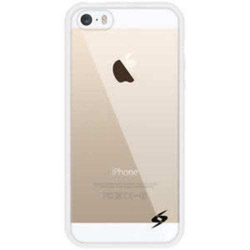 Andere merken Hardcase transparant hoesje voor Apple iPhone 5 - Met witte silliconen rand