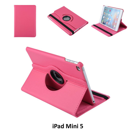 Andere merken Book case Tablet Apple iPad Mini 5 Rotatable Hot Pink for iPad Mini 5 2 Viewing Positions