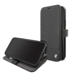 Apple iPhone 11 BMW Book-Case hul Schwarz BMFLBKSN61LLSB -Signature Logo - Kunstleer