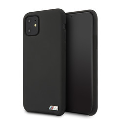 Apple iPhone 11 BMW Back-Cover hul Schwarz BMHCN61MSILBK -Hard Case - Silicone