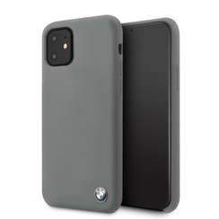 Apple iPhone 11 BMW Grijs Backcover hoesje BMHCN61SILDG - Hard Case - Silicone