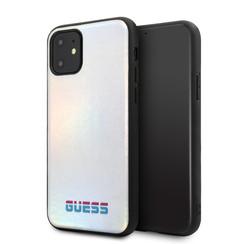 Apple iPhone 11 Guess Back-Cover hul Silber GUHCN61BLD -Hard Case - Kunstleer