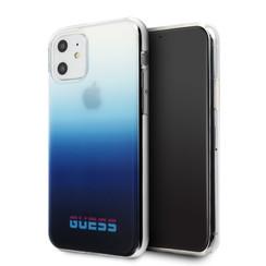 Apple iPhone 11 Guess Back-Cover hul Blau GUHCN61DGCNA -California - Kunstleer