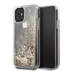 Apple iPhone 11 Guess Goud Backcover hoesje GUHCN61GLHFLGO - Hard Case - Silicone