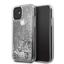 Apple iPhone 11 Guess Back-Cover hul Silber GUHCN61GLHFLSI -Hard Case - Silicone