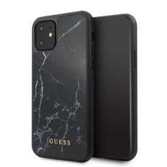 Apple iPhone 11 Guess Back-Cover hul Schwarz GUHCN61HYMABK -Hard Case - Kunstleer