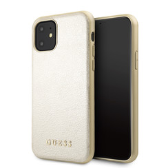 Apple iPhone 11 Guess Back-Cover hul Gold GUHCN61IGLGO -Hard Case - Kunstleer