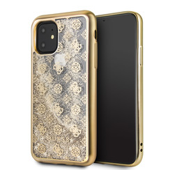 Apple iPhone 11 Guess Back-Cover hul Gold GUHCN61PEOLGGO -4G Peony - Silicone