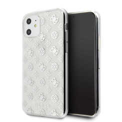 Apple iPhone 11 Guess Back-Cover hul Silber GUHCN61TPESI -4G Peony - Silicone
