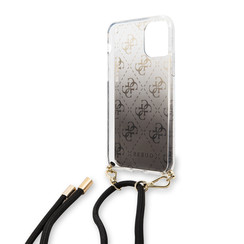Apple iPhone 11 Guess Back-Cover hul Schwarz GUHCN61WO4GBK -Hard Case - Kunstleer