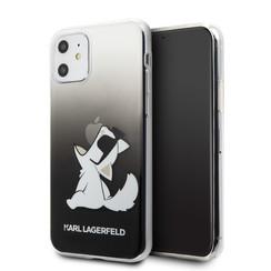 Apple iPhone 11 Karl Lagerfeld Zwart Backcover hoesje KLHCN61CFNRCBK - Choupette - Kunstleer