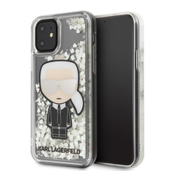 Apple iPhone 11 Karl Lagerfeld Back-Cover hul Transparent KLHCN61GLGIRKL -Ikonik - Silicone
