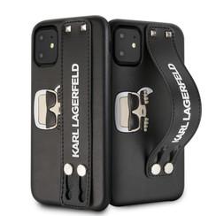 Apple iPhone 11 Karl Lagerfeld Schwarz KLHCN61HA2BK Noir - Hand Strap