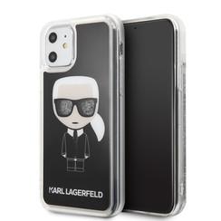 Apple iPhone 11 Karl Lagerfeld Back-Cover hul Schwarz KLHCN61ICGBK -Ikonik - Kunstleer