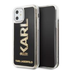 Apple iPhone 11 Karl Lagerfeld Back-Cover hul Schwarz KLHCN61KAGBK -Glitter - Kunstleer