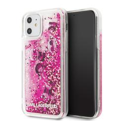 Apple iPhone 11 Karl Lagerfeld Back-Cover hul Rose Gold KLHCN61ROPI -Glitter - Kunstleer