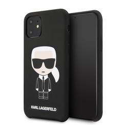 Karl Lagerfeld Apple iPhone 11 Black Back cover case - KLHCN61SLFKBK