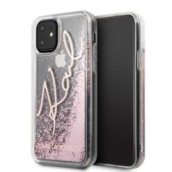 Apple iPhone 11 Karl Lagerfeld Back-Cover hul Rose Gold KLHCN61TRKSRG -Glitter - Silicone