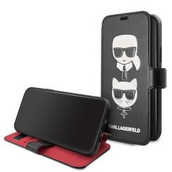 Karl Lagerfeld Apple iPhone 11 Noir Book type housse KLFLBKSN61FKICKC
