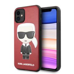Apple iPhone 11 Karl Lagerfeld Back-Cover hul Rot KLHCN61IKPURE -Ikonik - Kunstleer