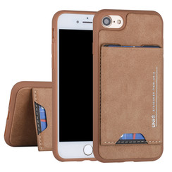 Apple iPhone 7-8 Back cover case Card holder Brown for iPhone 7-8 2 Viewing Positions