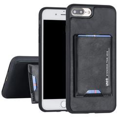 UNIQ Accessory Apple iPhone 7-8 Plus Zwart Backcover hoesje Pasjeshouder
