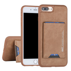 Apple iPhone 7-8 Plus Back cover case Card holder Brown for iPhone 7-8 Plus 2 Viewing Positions