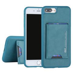 UNIQ Accessory Apple iPhone 7-8 Plus Groen Backcover hoesje Pasjeshouder