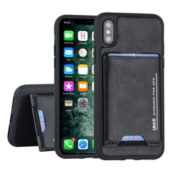 Apple iPhone X-Xs Back cover case Card holder Black for iPhone X-Xs 2 Viewing Positions