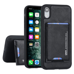 Apple iPhone XR Back cover case Card holder Black for iPhone XR 2 Viewing Positions
