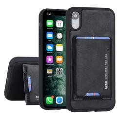 UNIQ Accessory Apple iPhone XR Zwart Backcover hoesje Pasjeshouder