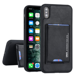 Apple iPhone Xs Max Back cover case Card holder Black for iPhone Xs Max 2 Viewing Positions