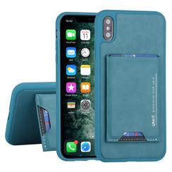 UNIQ Accessory Apple iPhone Xs Max Groen Backcover hoesje Pasjeshouder