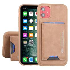 Apple iPhone 11 UNIQ Accessory Braun Titulaire de la carte Marron - 2 positions d'observation