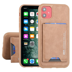 UNIQ Accessory Apple iPhone 11 Bruin Backcover hoesje Pasjeshouder